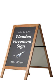Pavement Sign, Kundenstopper Holz
